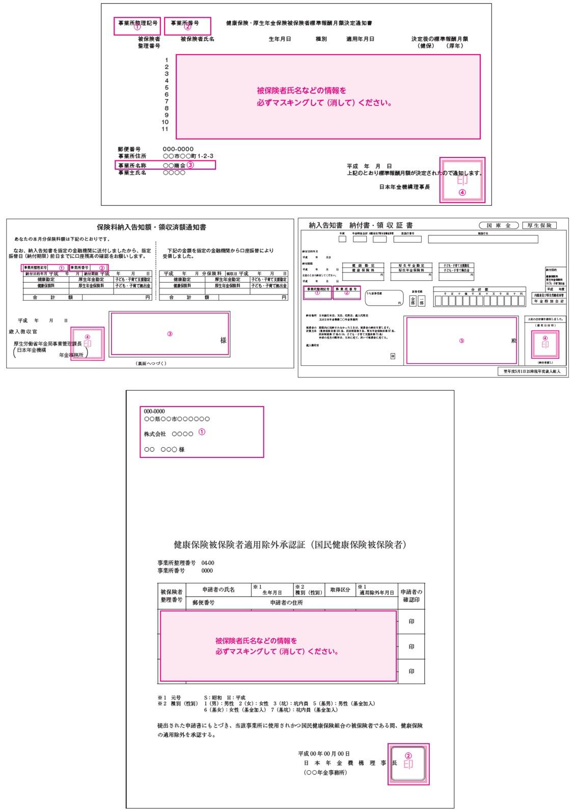 健康保険証明書類